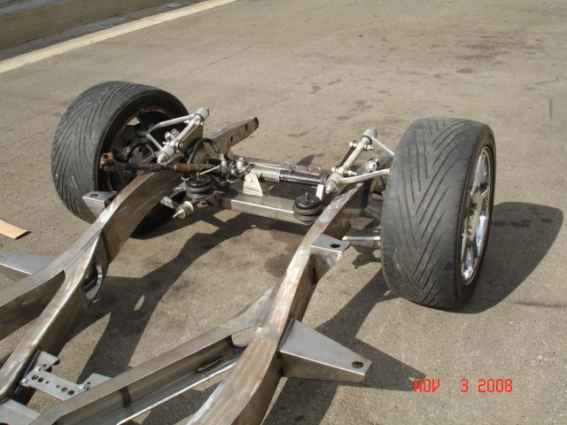 Chevy Frame with Flat Out Engineering Front Suspension with Airbags